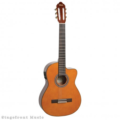 SAMICK CN3CE CONCERT SIZE CLASSICAL NYLON STRING GUITAR WITH PICKUP
