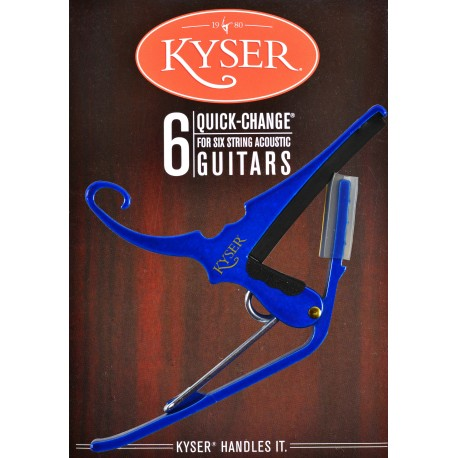 KYSER QUICK CHANGE BLUE CAPO FOR ACOUSTIC GUITARS