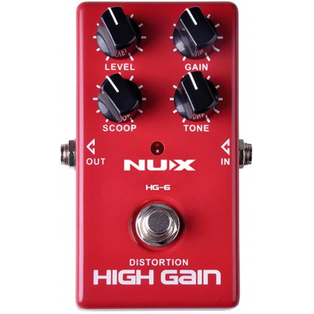NUX MODERN HIGH GAIN ANALOG EFFECTS PEDAL AGGRESSIVE ROCK & METAL DISTORTION
