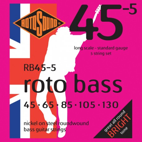 ROTOSOUND BASS GUITAR STRINGS RB45 ROTOBASS STANDARD 45 -105