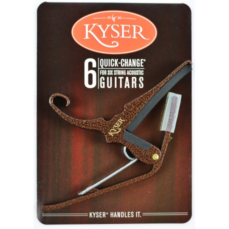 KYSER QUICK CHANGE COPPER VEIN CAPO FOR ACOUSTIC GUITARS