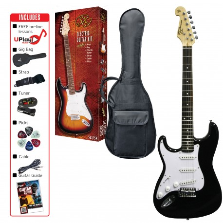 SX LEFT HAND ELECTRIC GUITAR PACKAGE INCLUDES ACCESSORIES
