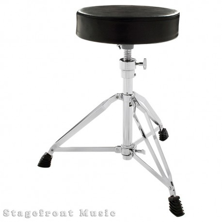 DRUM STOOL HEAVY DUTY DOUBLE BRACED TRIPOD BASE. HEIGHT ADJUSTABLE 46cm TO 63cm