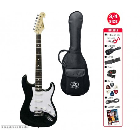 SX ELECTRIC 3/4 GUITAR AND ACCESSORY PACKAGE WITH GIG BAG