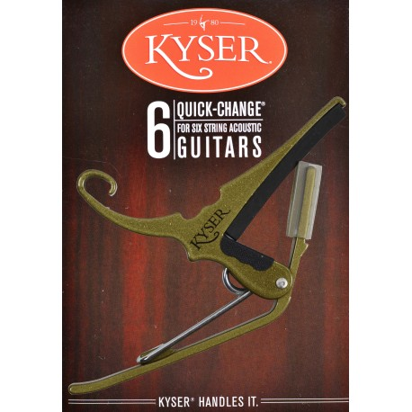 KYSER QUICK CHANGE GOLD CAPO FOR ACOUSTIC GUITARS