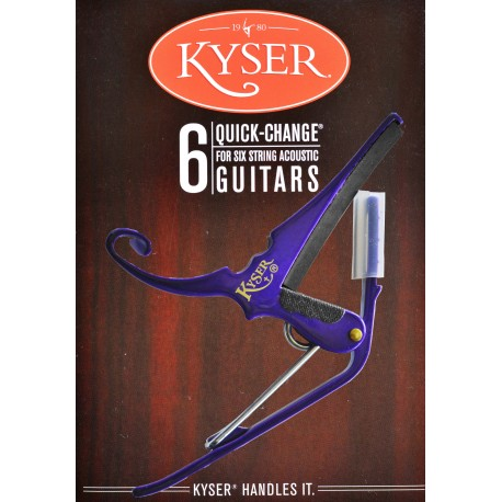 KYSER QUICK CHANGE PURPLE CAPO FOR ACOUSTIC GUITARS