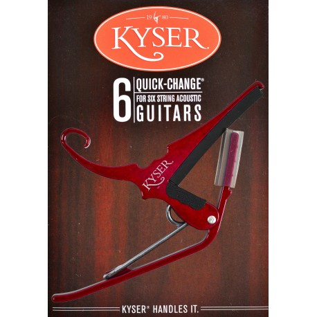 KYSER QUICK CHANGE RED CAPO FOR ACOUSTIC GUITARS