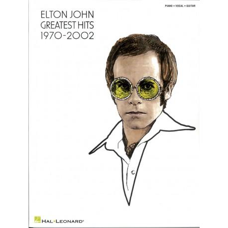 ELTON JOHN GREATEST HITS 1970 - 2002 PVG SHEET MUSIC FOR PIANO, VOCAL & GUITAR