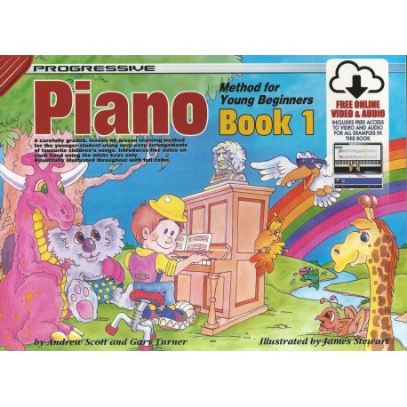 PROGRESSIVE PIANO METHOD FOR YOUNG BEGINNERS BOOK 1 with CD/DVD