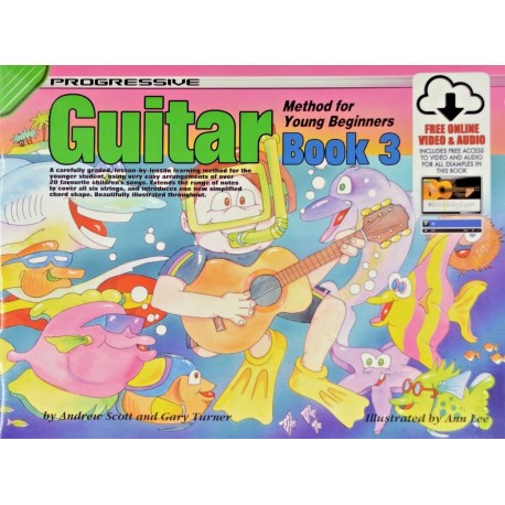 PROGRESSIVE GUITAR METHOD FOR YOUNG BEGINNERS BOOK 3 with CD