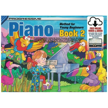 PROGRESSIVE PIANO METHOD FOR YOUNG BEGINNERS BOOK 2 with CD
