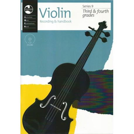 AMEB VIOLIN SERIES 9 RECORDING & HANDBOOK - GRADE 3 & 4