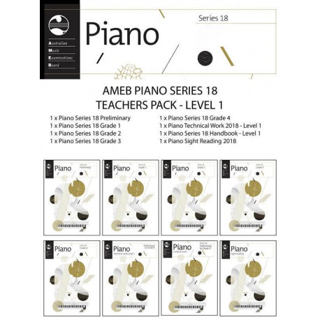 AMEB PIANO TEACHERS PACK SERIES 18 LEVEL 1