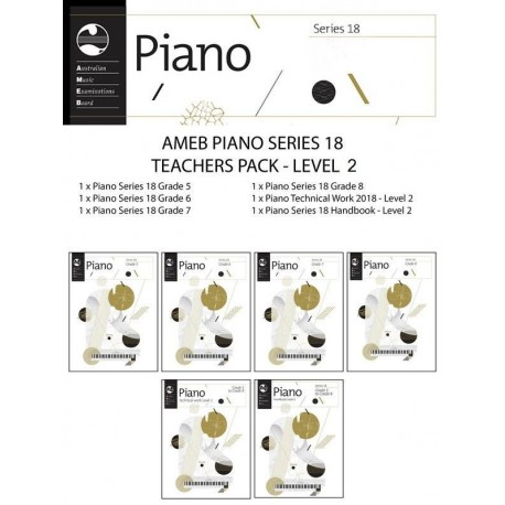 AMEB PIANO TEACHERS PACK SERIES 18 LEVEL 2