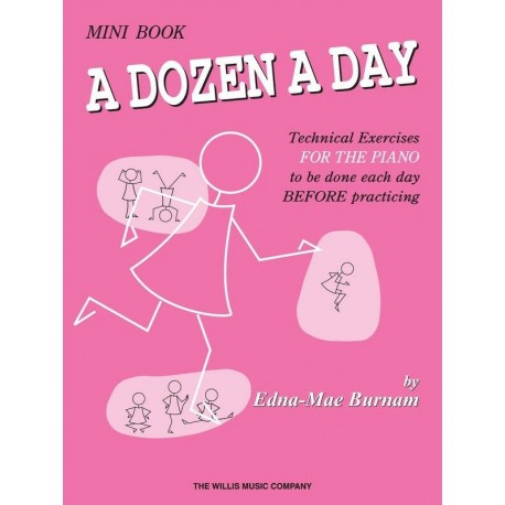 A DOZEN A DAY MINI BOOK FOR PIANO - Edna Mae Burnam