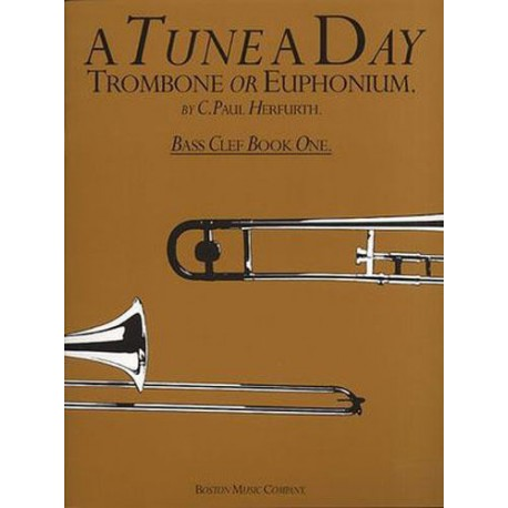A TUNE A DAY FOR TROMBONE OR EUPHONIUM - BOOK 1 BASS CLEF - HERFURTH