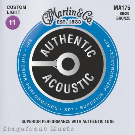 MARTIN MA175 ACOUSTIC GUITAR STRINGS CUSTOM LIGHT 80/20 BRONZE GAUGE 11-52