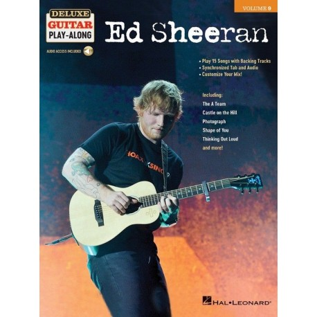 ED SHEERAN DELUXE GUITAR PLAY ALONG VOLUME 9 SHEET MUSIC & SONG BACKING TRACKS