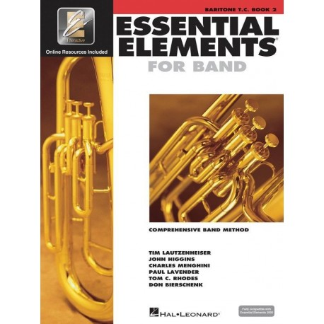 ESSENTIAL ELEMENTS 2000 BAND METHOD BOOK 2 - BARITONE TC WITH EE INTERACTIVE