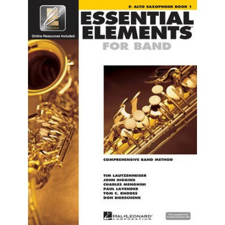 ESSENTIAL ELEMENTS BAND METHOD BOOK 1 - Eb ALTO SAXOPHONE WITH EE INTERACTIVE