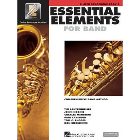 ESSENTIAL ELEMENTS BAND METHOD BOOK 2 - Eb ALTO SAXOPHONE WITH EE INTERACTIVE