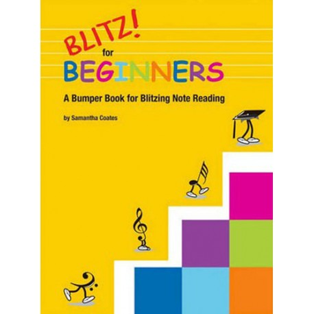 BLITZ! FOR BEGINNERS - SAM COATES - BUMPER BOOK FOR BLITZING NOTE READING