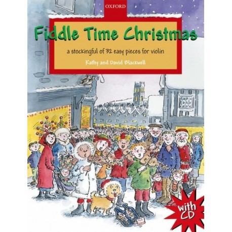 FIDDLE TIME CHRISTMAS BOOK & CD 32 EASY VIOLIN SONGS BY KATHY & DAVID BLACKWELL