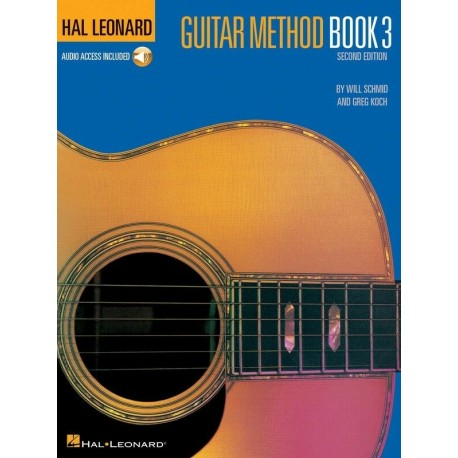 HAL LEONARD GUITAR METHOD BOOK 3 WITH ONLINE AUDIO - INTERNATIONAL BEST SELLER