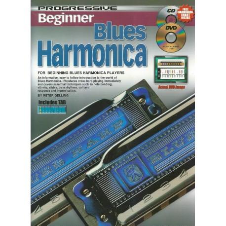 PROGRESSIVE BEGINNER BLUES HARMONICA - TEACH YOURSELF HOW TO PLAY CD + DVD
