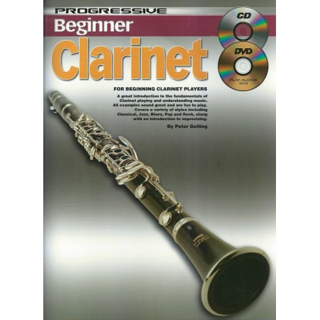 PROGRESSIVE BEGINNER CLARINET TEACH YOURSELF HOW TO PLAY CLARINET CD + DVD