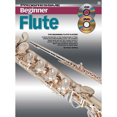 PROGRESSIVE BEGINNER FLUTE. TEACH YOURSELF HOW TO PLAY FLUTE CD + DVD