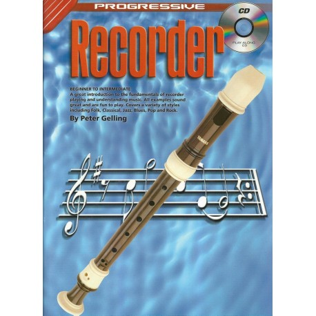 PROGRESSIVE RECORDER METHOD - FREE CD - TEACH YOURSELF HOW TO PLAY RECORDER
