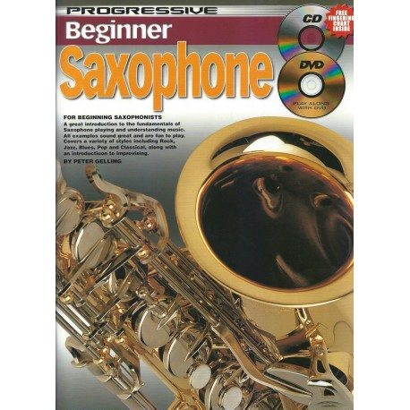PROGRESSIVE BEGINNER SAXOPHONE – FREE CD & DVD - TEACH YOURSELF HOW TO PLAY SAX