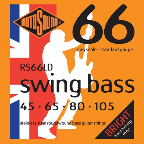 ROTOSOUND RS66LD (45-105) SWING BASS STAINLESS STEEL ELECTRIC BASS 4 STRING SET