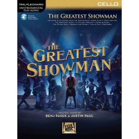 THE GREATEST SHOWMAN CELLO SHEET MUSIC BOOK WITH INSTRUMENTAL PLAY ALONG
