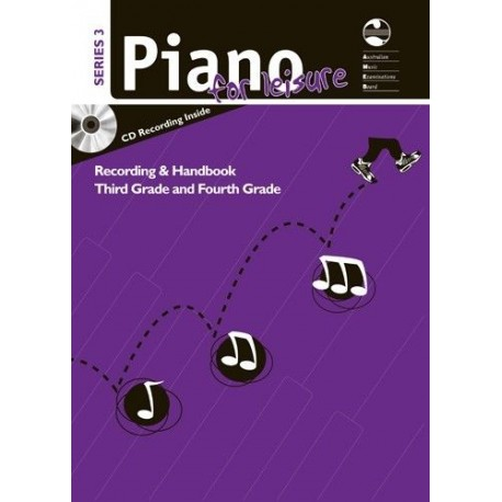 AMEB Piano for Leisure Series 3 Recording & Handbook Grade 3 & 4 Third & Fourth