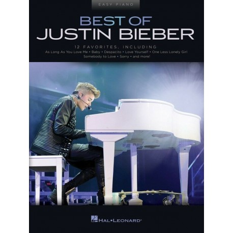 BEST OF JUSTIN BIEBER FOR EASY PIANO - ALL THE POPULAR HIT SONGS
