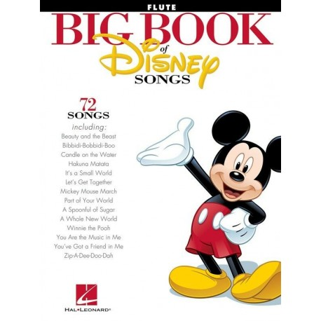 BIG BOOK OF DISNEY SONGS FOR FLUTE 72 FAVORITE HITS FROM MOVIES