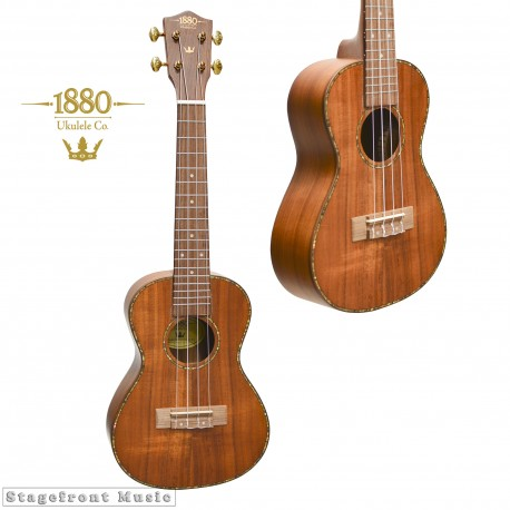 UKULELE CONCERT SIZE 1880 UKULELE CO. 300 SERIES SOLID KOA TOP KOA BACK & SIDES