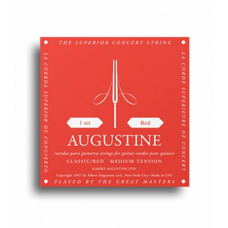 AUGUSTINE CLASSIC RED STRINGS REGULAR TENSION TREBLES / MEDIUM TENSION BASSES