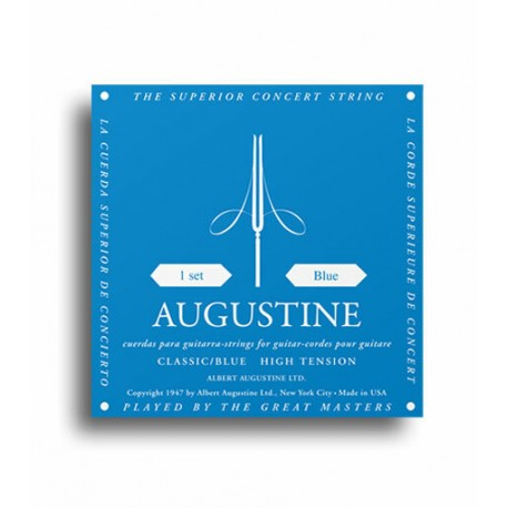 AUGUSTINE CLASSIC BLUE STRINGS REGULAR TENSION TREBLES / HIGH TENSION BASSES