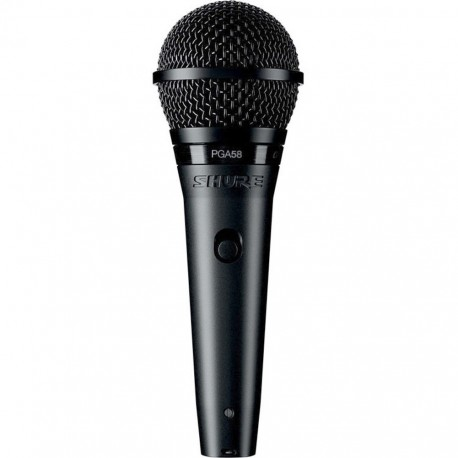 SHURE PGA58 CARDIOID DYNAMIC VOCAL MICROPHONE WITH XLR-QTR CABLE