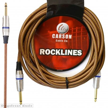 CARSON ROK20BV ROCKLINES 20FT/6M BRAIDED INSTRUMENT CABLE IN VINTAGE TWEED