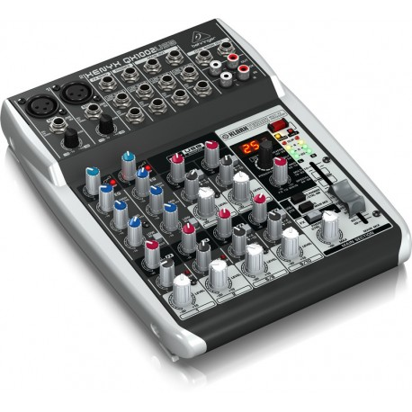 BEHRINGER XENYX QX1002USB PREMIUM 10-INPUT, 2-BUS MIXER WITH KLARK TEKNIK MULTI-FX PROCESSOR & USB/AUDIO INTERFACE