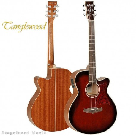 TANGLEWOOD TW4WB WINTERLEAF SUPER FOLK EL/AC GUITAR WHISKEY BARREL BURST