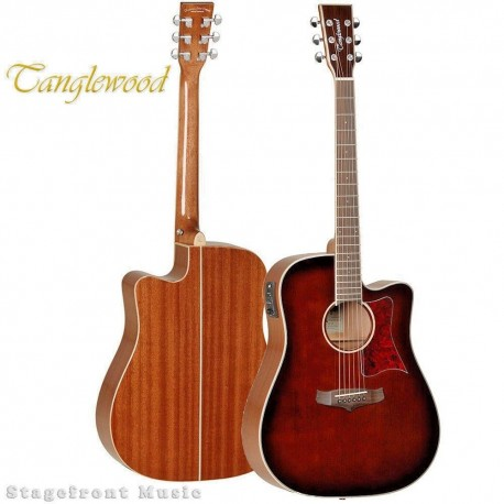 TANGLEWOOD TW5WB WINTERLEAF ACOUSTIC /ELECTRIC GUITAR WHISKEY BARREL BURST GLOSS