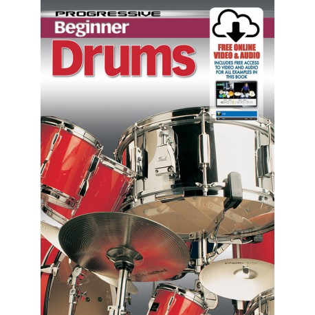 PROGRESSIVE BEGINNER DRUMS CD+DVD - TEACH YOURSELF HOW TO PLAY DRUMS