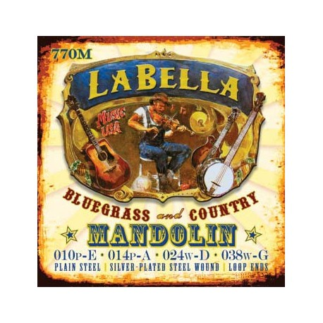 MANDOLIN STRINGS LA BELLA MED 770M