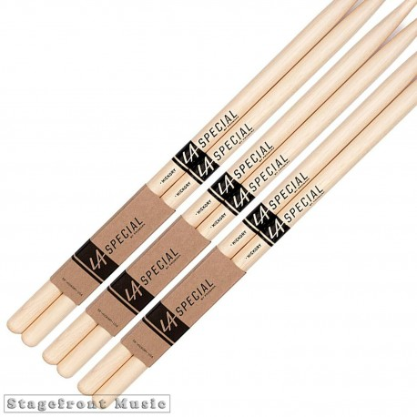 PROMARK LA SPECIAL 3 SET PACK WOOD AND NYLON TIP HICKORY DRUM STICKS