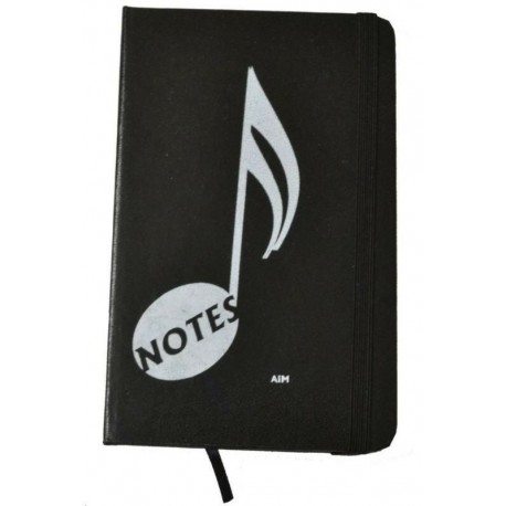 NOTEBOOK MUSIC NOTE DIARY - BLACK (KEEP YOUR NOTES ORGANIZED)